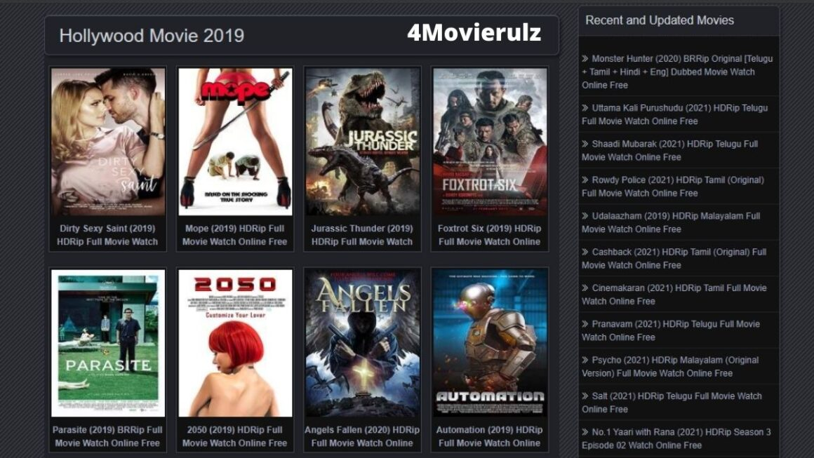 4Movierulz or Movierulz4: Download All The HD Movies For FREE In 2021