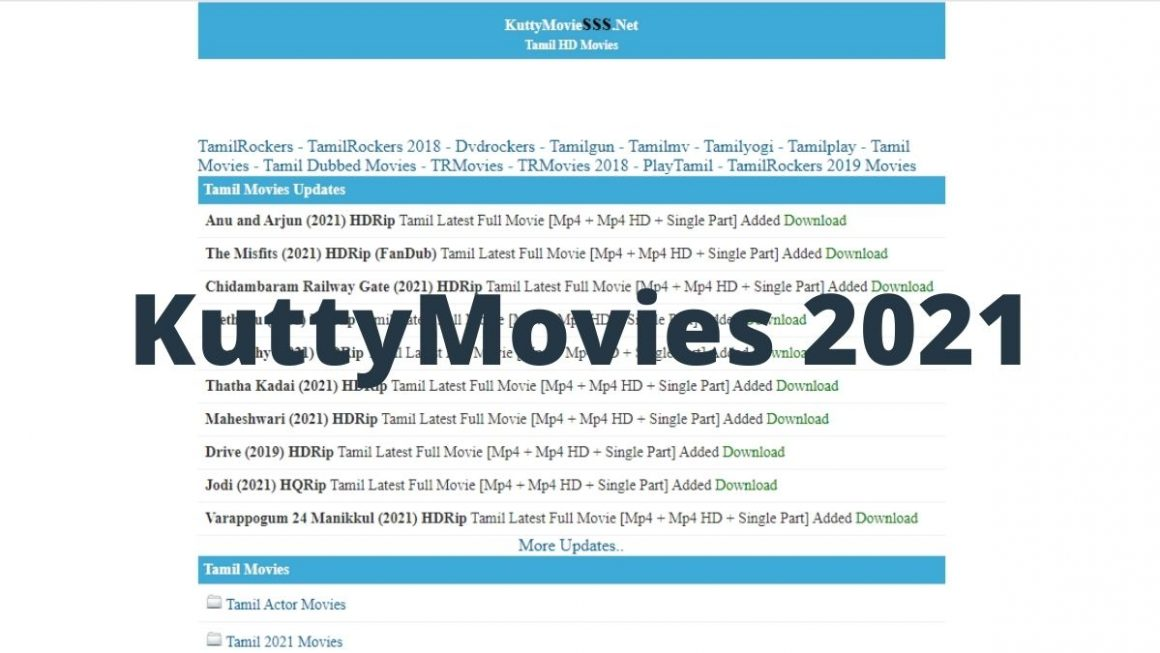 KuttyMovies 2021: Watch and Download Free TamilHD Movies Online For Free